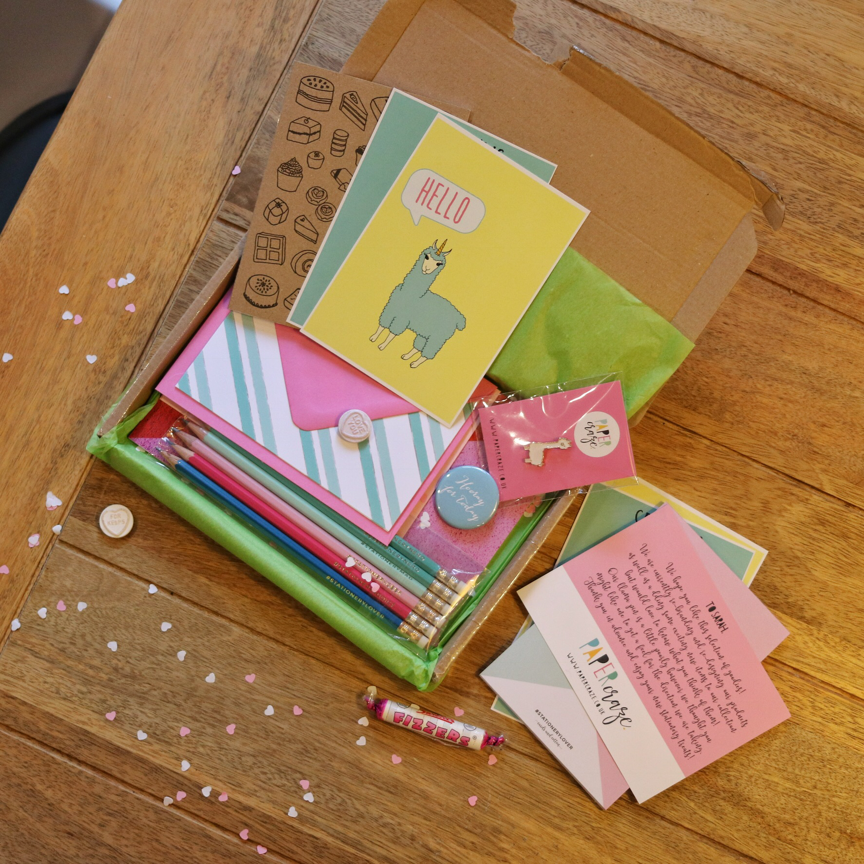 stationary blogger review papercraze uk notonthehighstreet